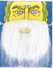 White  Fake Beard for Fancy Dress Party! Witch, Wizard, Smurf, Santa! UK