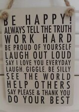 BE HAPPY LAUGH OUT LOUD ETC   Metal Motivational Sign