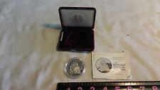 Ben Franklin Firefighters Proof 1 oz .999 Fine Silver Medal