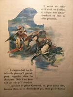 L'OISEAU BLEU *JOLIES PLANCHES COULEURS* CARTONNAGE ENFANTINA CHARME old BOOK