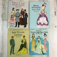 Lot 4 Tom Tierney Paper Doll Books Uncut Dover Marie Antoinette Victorian Leigh