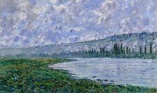 The Seine at Vétheuil by Claude Monet 75cm x 44.7cm Canvas Print