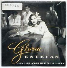 GLORIA ESTEFAN Con los años que me SPANISH PROMO CD SINGLE 40 PRINCIPALES COVER