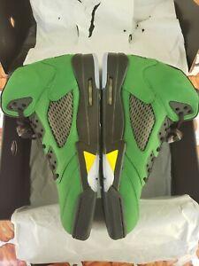 Nike Air Jordan 5 V Retro Oregon  Ducks Green Apple *New* Size 13