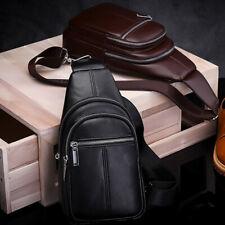 Sling Backpack Men's Sling Shoulder Bag Genuine Leather Crossbody Chest Bag