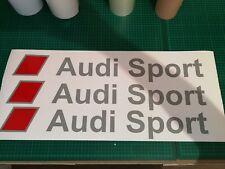 AUDI Sport Sunstrip Adesivo S3 RS3 RS4 RS5 A3 A5 TFSI Nordic Grigio x1 600 mm