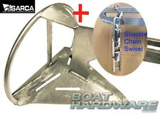 Anchor & 3 Way SS Swivel & Shackle KIT Genuine Super Sarca No2 Suits 4-6.5m Boat