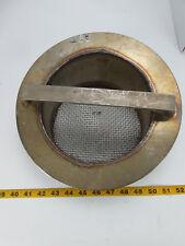 "Custom Angled Stainless Steel Metal Screen Handle Approximately 11"" Diameter CS"