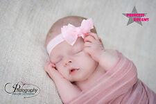 Princess-Dreams Mädchen Baby Haarband 148 rosa Taufe Babyfotografie Schleife
