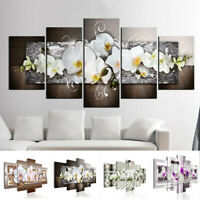 5pcs Unframed Flowers Bunch Canvas Print Wall Art Painting Flower Picture Pack
