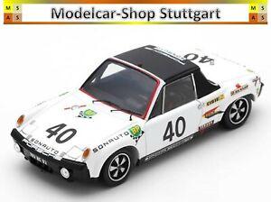 Porsche 914/6 Gt White Sonauto #40 - Le Mans 1970 - Spark 1:43 - MAP02005519 New