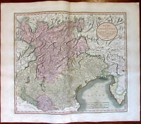 Tyrol Venice Republic Mantua Lakes Europe Italy 1811 John Cary large old map