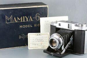 Mamiya 6 Six KII K2 6x4.5 6x6 Rangefinder Sekor S 7.5cm F3.5 with Box #193