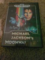 Michael Jackson's Moonwalker (Sega Genesis, 1990) Complete cib rare NTSC
