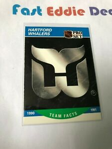 PRO SET NHL HOCKEY 1990 HARTFORD WHALERS TEAM FACTS CARD 572 EXCELLENT 1990-91