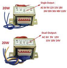 EI57 20W Power Transformer 220V TO 6V/9V/12V/15V/18V/24V/110V AC Single/Dual