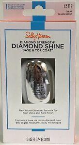 Lot of 4 Sally Hansen Diamond Strength , Diamond Shine Base & Top Coat 45112