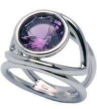 Amethyst Gemstone 3.11 carat Unique Sterling Silver Ring size M