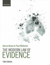 The Modern Law of Evidence by Adrian Keane 9780198848486 | Brand New
