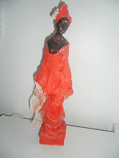 SUPERBE STATUE AFRICAINE - FABRICATION ARTISANALE