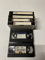 Vintage Lot Of  6 Pre-Recorded VHS Video Cassettes Tapes 90s with Commercials