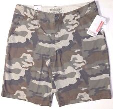 New Mossimo Flat front Camo Camouflage bermuda shorts size 9