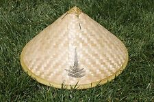 Asian Chinese Vietnamese Bamboo Straw Sun Rice Garden Fishing Hat ( QTY 2 )