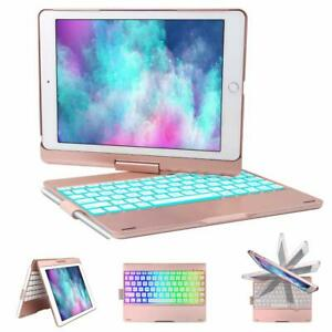 "360 Rotating Backlit Bluetooth Keyboard Case For iPad 9.7"" 5/6th Air 3/2/1 Pro"