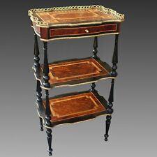 Petite Table Étagère d'époque Napoleon III - en marqueterie - du 19ème siècle