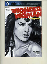 Wonder Woman #19 Gail Gadot Blank Sketch Cover Variant CHRIS HENDERSON 1/1