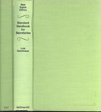 Standard Handbook For Secretaries 8th Ed 1972 Hutchinson Hardback Minutes Cables