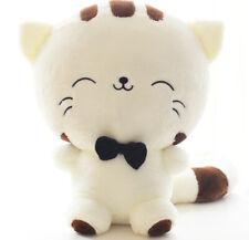 "Cute Cat Plush 7"" White - Kawaii Cat Plushie - Super Soft Animal Toy"
