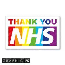 Thank You NHS Rainbow Sticker Car Window Laptop