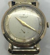 Vintage Mid Century 10k Solid Gold Hamilton Masterpiece RCA Running Wrist Watch