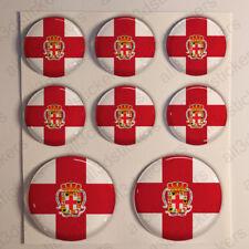 Pegatinas Almería Pegatina Bandera Almería Resina Vinilo Relieve España 3D