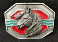 HORSE, MUSTANG, COLT BELT BUCKLE, 1993, MADE USA, SISIYOU 3 x 2.5
