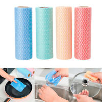 GI- KE_ Disposable Non-woven Kitchen Washing Cleaning Dish Duster Cloth 50pcs/ro