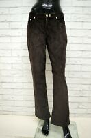 Pantalone TRUSSARDI Donna Taglia Size 46 Jeans Pants Woman Marrone Costine Zampa