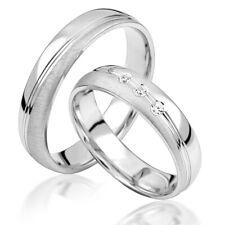 2 x Silber 925 Trauringe Eheringe Verlobungsringe Partnerringe M31