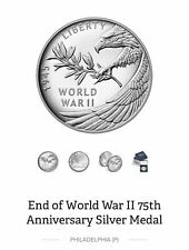 UNOPENED End of World War II 75th Anniversary Silver Medal 20XH IN HAND!!!