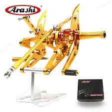 Fit Yamaha YZF-R1 1000 2005 2006 Racing Foot pegs Footrests Rearset Gold HFN