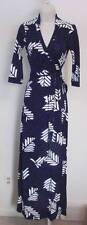 Diane von Furstenberg Abigail Arrow Feathers Purple maxi wrap dress 4 black DVF
