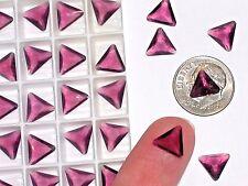 10pc Vintage Crystal SWAROVSKI Triangle lot Rhinestone unfoiled no hole 10mm PRL