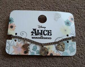 Disney Alice In Wonderland Charm Bracelet New