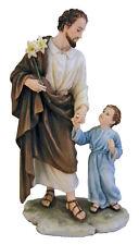 "St. Joseph & Child Statue, Fully Hand-Painted,  8.25"""