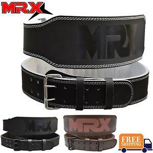 "MRX Weight Lifting Belt 4"" Back Support Fitness Gym Training Bodybuilding Men US"