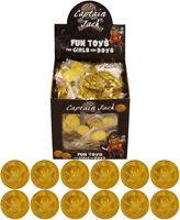 Plastic GOLD PIRATE COINS Treasure Loot Goody Party Bag Pinata Fillers Kids Toys