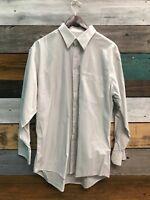 Men's PRONTO-UOMO Long Sleeve Button Up Shirt Large