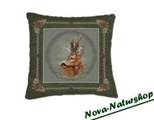 3d cojines, decoración-cojines, almohadas, animal motivo corzos, caza