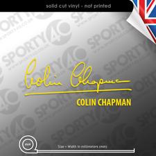 Colin Chapman Signature Vinyl Decal Sticker - Super 7 Lotus Caterham  6314-0420